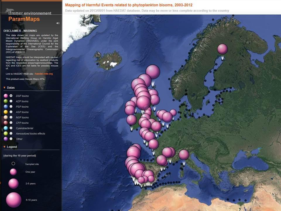 Harmfull Algal Blooms in Europa | © Ifremer