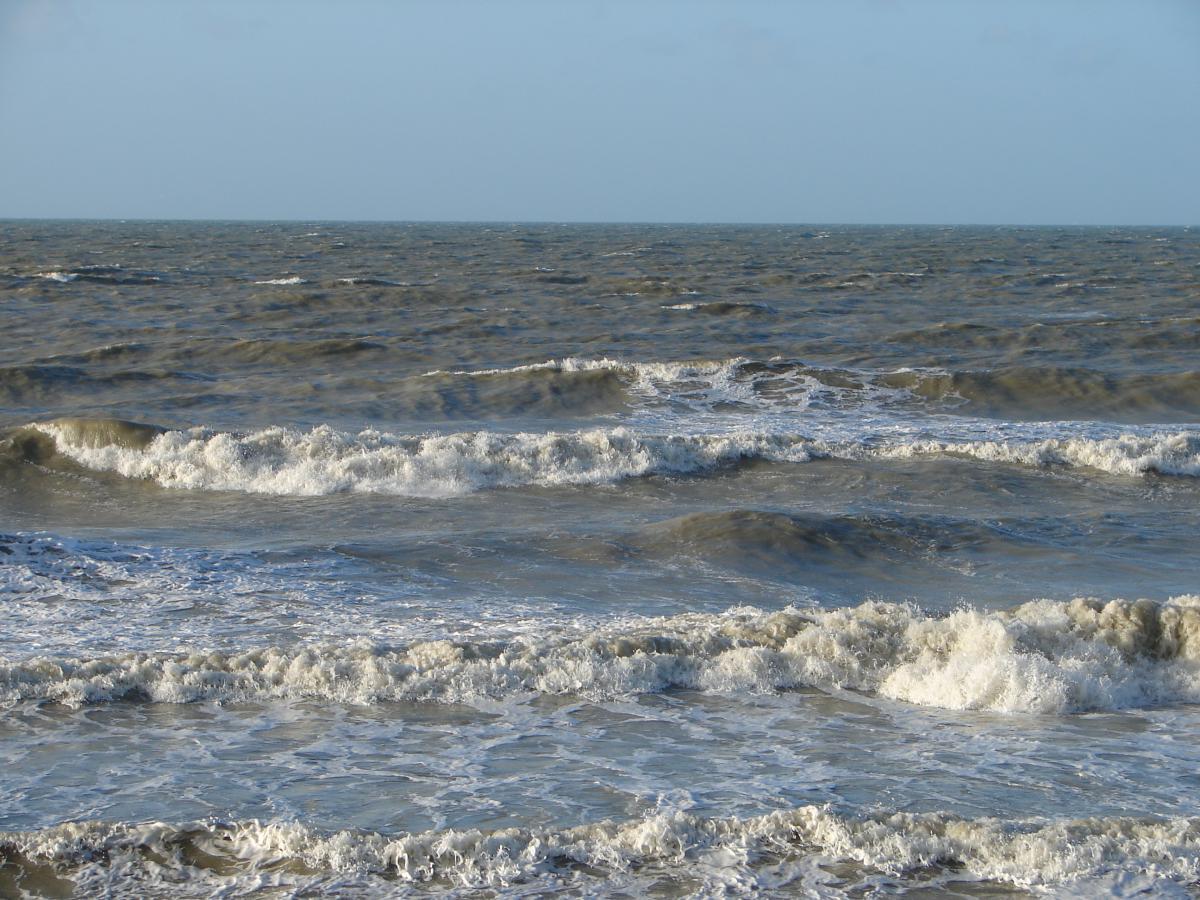 Brekende golven aan de Belgische kust | © VLIZ Nathalie De Hauwere